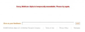 wolfram alpha temporality unavailable