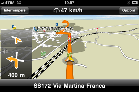 Navigon Mobile Navigator 1.1.0 per iPhone in azione