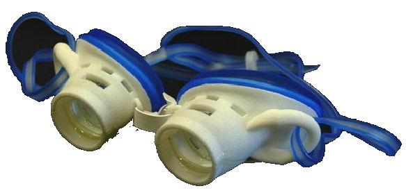 Prototipo degli occhialini per apnea creati dal Cnr
