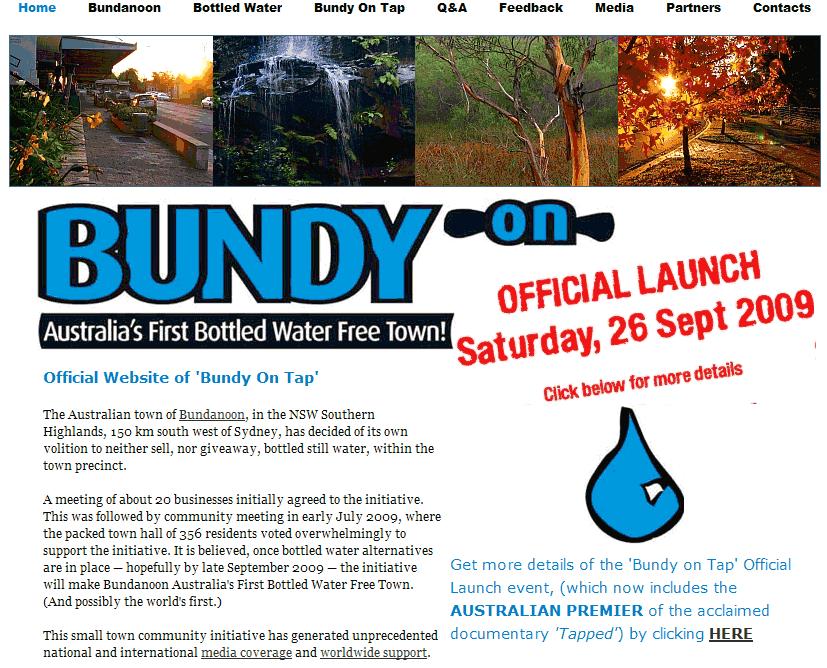 Il sito ufficiale di Bundy on Tap