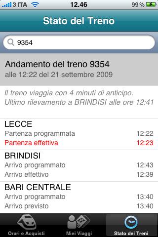 Un treno che viaggia in anticipo!