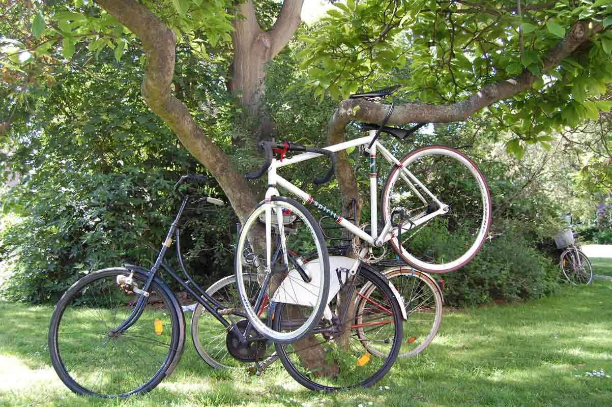 A Copenhagen le biciclette sono proprio dappertutto (Photo Pino Bruno). Cliccare per ingrandire l'immagine
