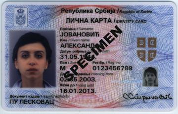 Carat di identità elettronica in Serbia