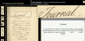 Stendhal-manoscritto