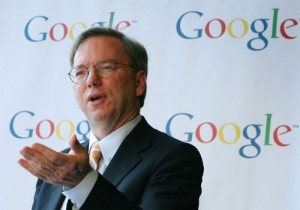 Il patron di Google, Eric Schmidt