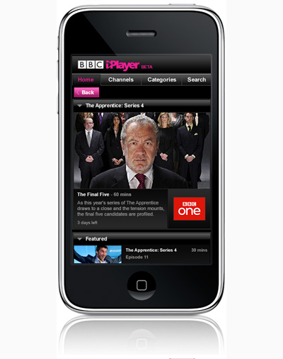 BBC iPlayer anche su iPhone