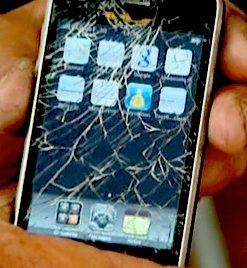 l'iPhone del signor Olivier Milano (photo La Depeche)