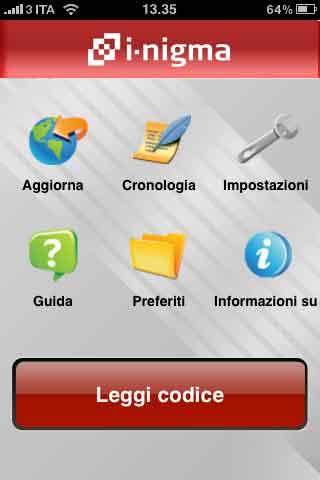 Applicazione iPhoneper QR Code