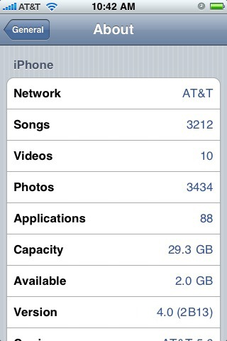Ipotetico screenshot del nuovo firmware 4.0 di iPhone