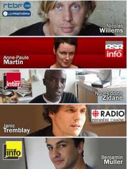I cinque protagonisti dell'esperimento Huis Clos sur le Net