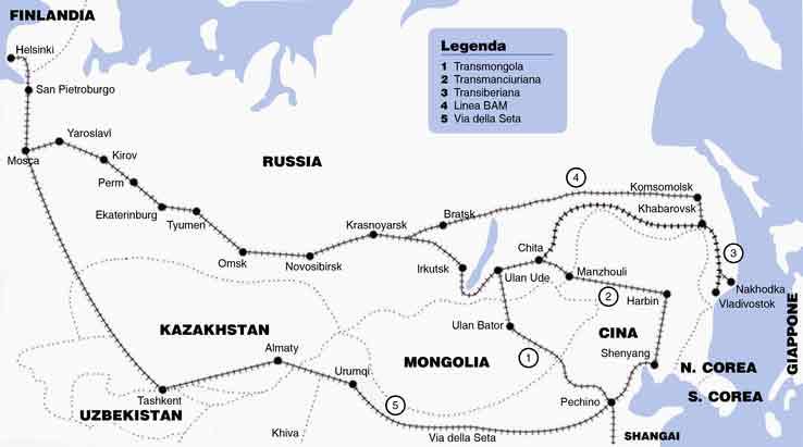 Il percorso della Transiberiana
