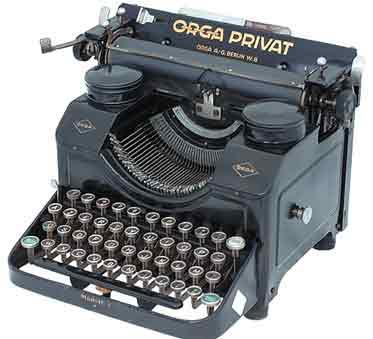 Macchina-per-scrivere-Orga-Privat-del-1924