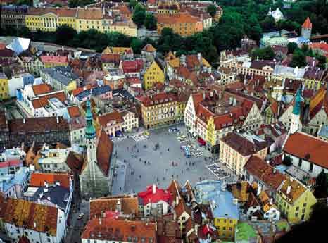 Veduta aerea di Tallinn