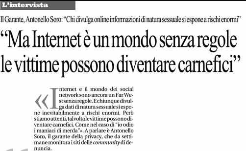 La Repubblica 27 maggio 2013, pag. 25