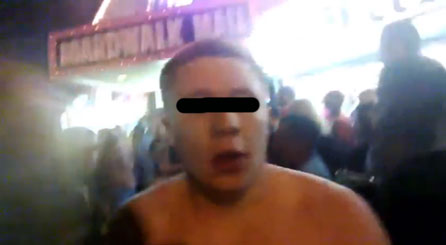 L'uomo arrestato a Wildwood, immortalato dai Google Glass