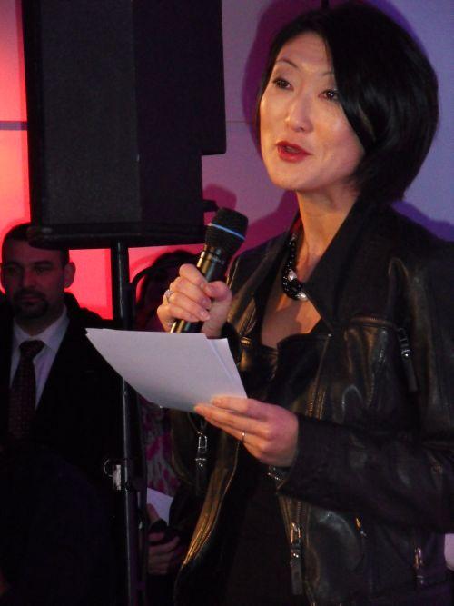 Fleur Pellerin, ministra francese per l'innovazione e l'economia digitale, all'inaugurazione del NUMA