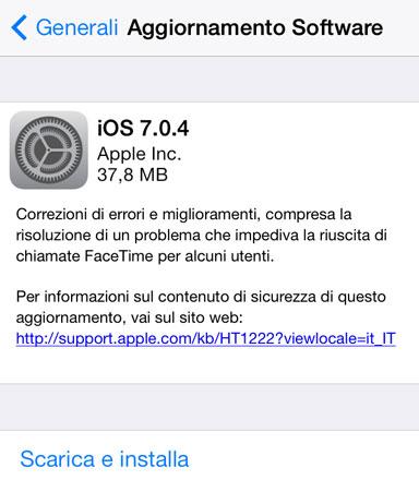 aggiornamento-iOS 7.0.4