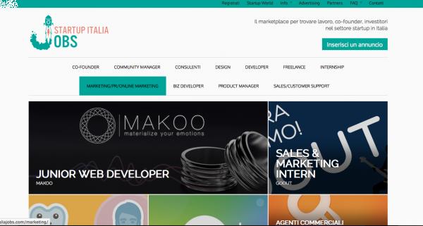 startup italia jobs