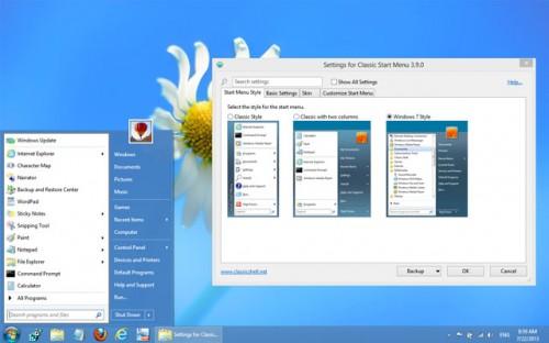 Classic Shell è una utility gratuita che permette di far sparire le mattonelle su Windows 8 e 8.1