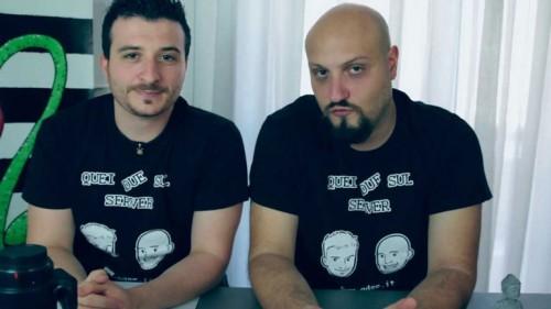 Nicola Palmieri (a sx) e Mario Palladino, Quei due Bastardi sul Server