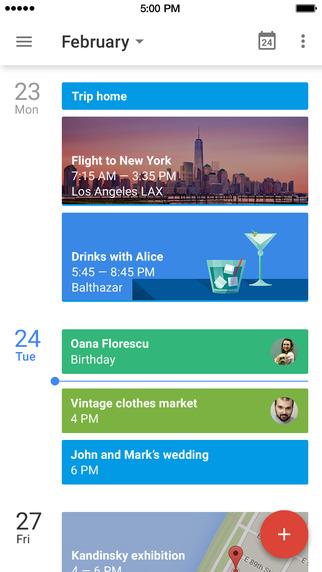 calendario google app iphone